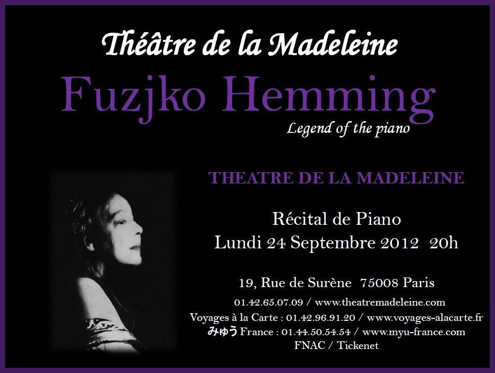 Fujiko Hemming en concert le 24 septembre 2012 à Paris Fujikohemming-1
