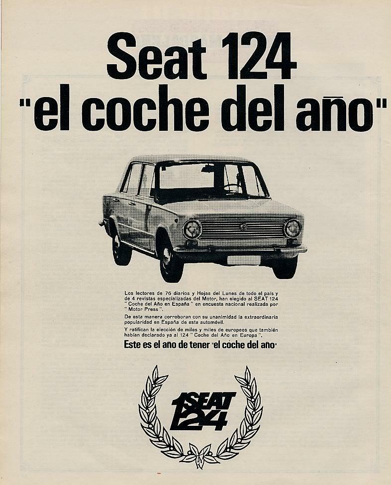 Publicidad de la epoca Seat 124 y Seat 1430 60-2