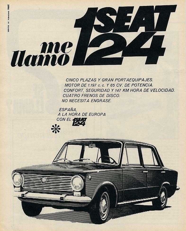 Publicidad de la epoca Seat 124 y Seat 1430 62-1