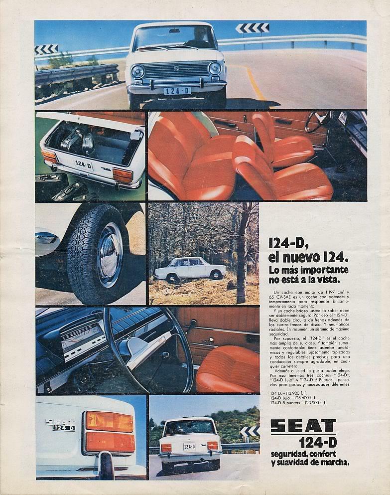 Publicidad de la epoca Seat 124 y Seat 1430 Lll