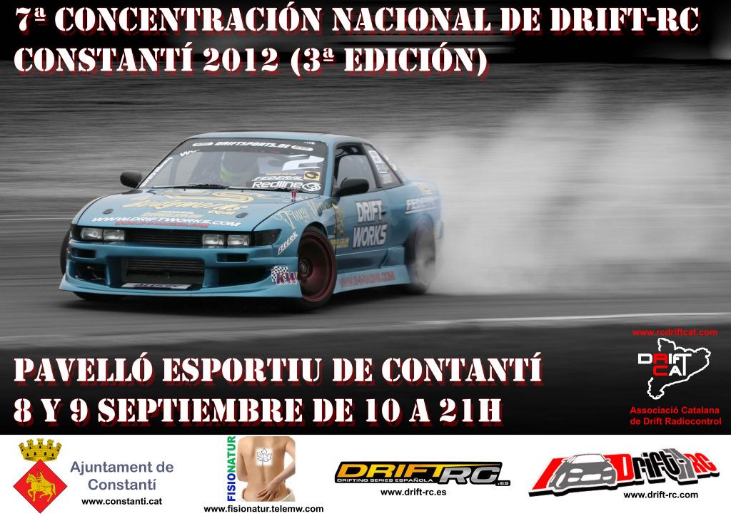 7ª Concentración Nacional Drift-Rc Constantí (8-9 / 9 / 2012)  CartelDriftConstant2012