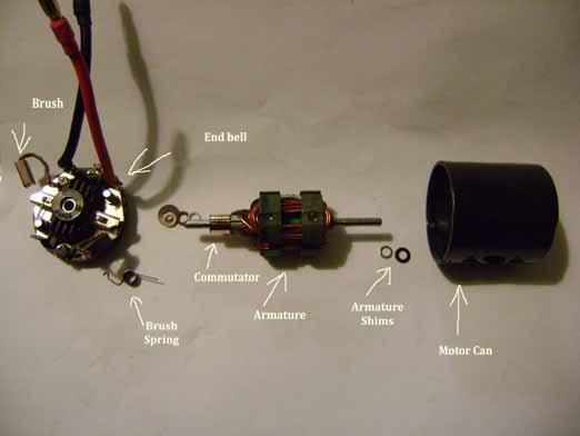 Brushed motor basics Explodedview-1