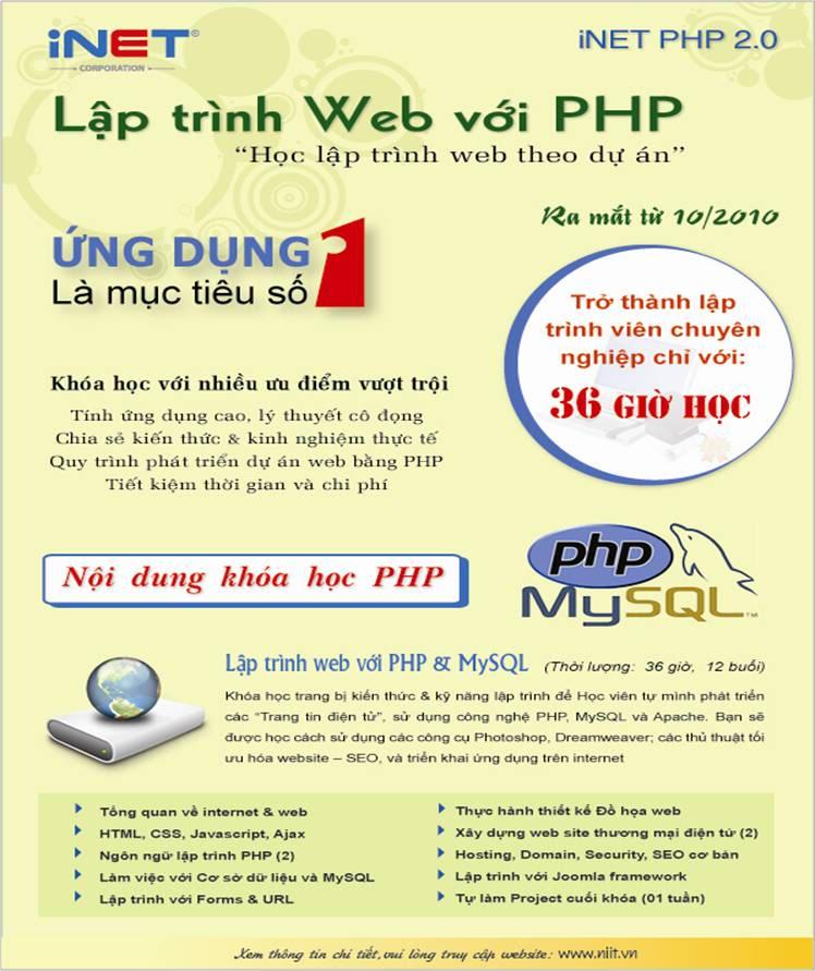 NIIT-INET: RA MẮT KHÓA HỌC iNET PHP 2.0 Clip_image002