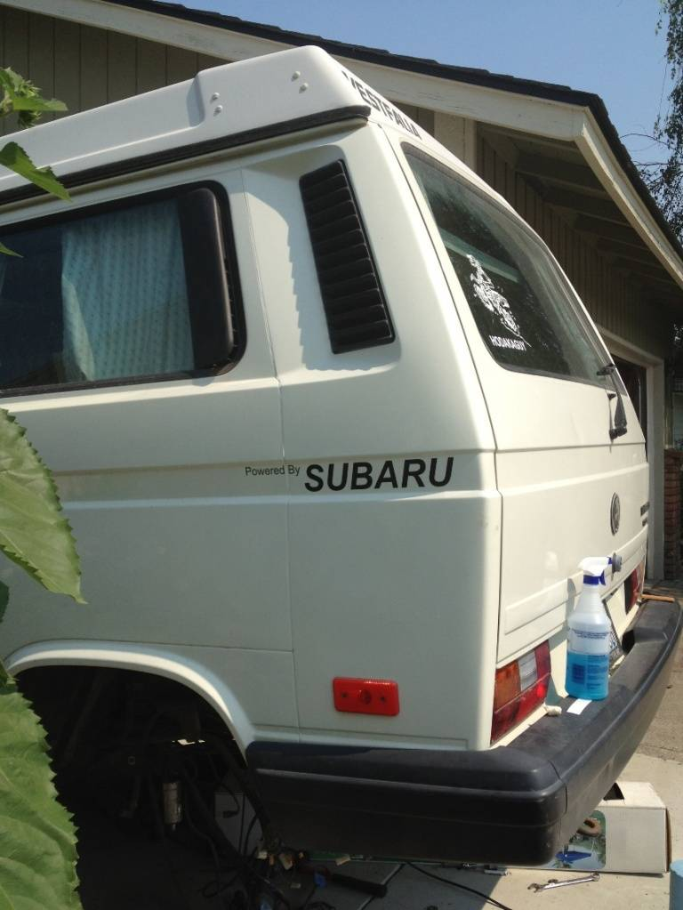 VW Syncro Westfalia - Build Log with Pics SubaruSticker2