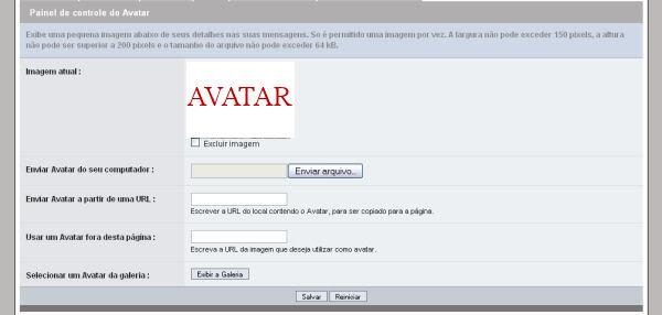 Colocar AVATAR no perfil Avatar1