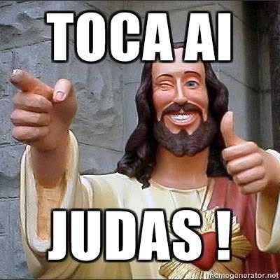 Jesus no Sporting. TOCA-AI-JUDAS-