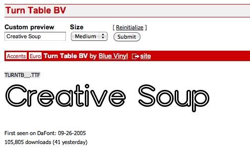 1.14 Font Friday - Turn Table BV Turntablebv