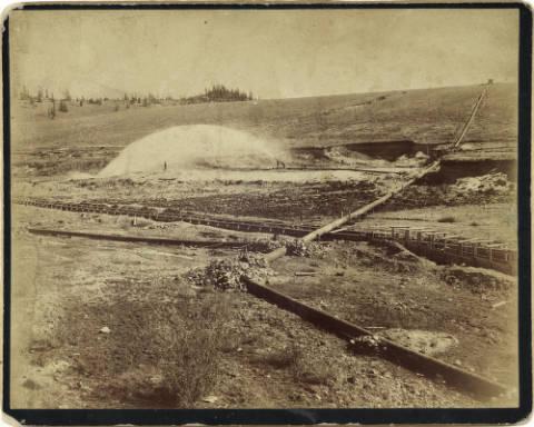 Colorado -- Early Cache Creek Black & White Photos... Hydraulic_mining_near_Granite_Colorado_zpsxose188f