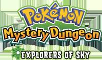 Pokémon Mystery Dungeon: Explorers of Sky Logo!