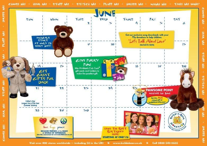 June Calendar (UK) BABWUK
