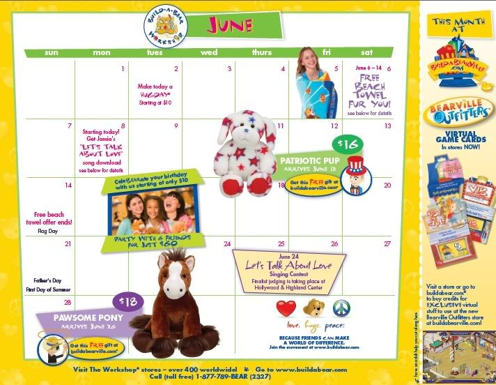 June Calendar (US) Babwjune