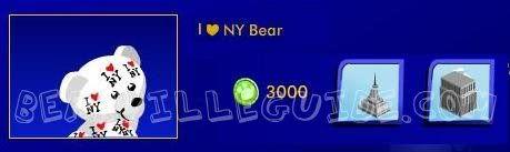 I Heart New York Bear Heartby