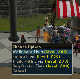 Celebrities on Runescape Elvis