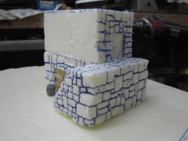 4th Piece to my gameboard. WIP Building ready for paint. 4sosapydst011