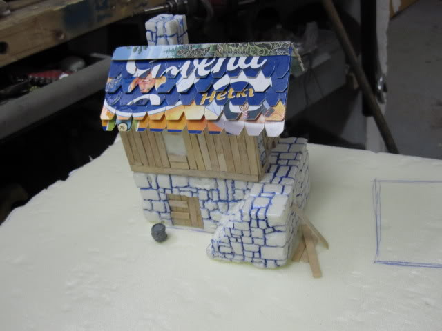 4th Piece to my gameboard. WIP Building ready for paint. 4sosapydstTALO005