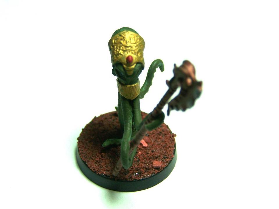 """31002 - Edofleini (Edo Faction) Guardling #1 (Spawnguard) – Bombshell Miniatures """"Counterblast"""" 32mm Pewter (metal) figure EdoGuardlingcompleted7_zps20edb6a4"""