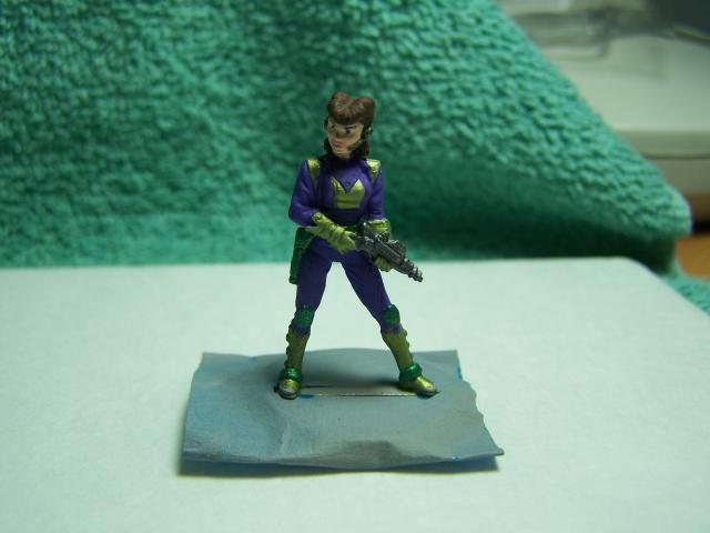 "33002 - Lancer (Lancer Faction) Plugger #1 (Female Lancer Crew Mate) – Bombshell Miniatures ""Counterblast"" 32mm Pewter (metal) figure LancerPluggerpainted1_zps1f838ac3"