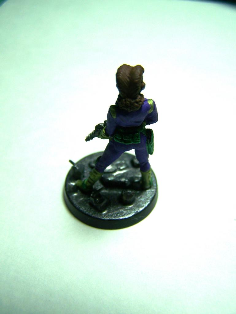 "33002 - Lancer (Lancer Faction) Plugger #1 (Female Lancer Crew Mate) – Bombshell Miniatures ""Counterblast"" 32mm Pewter (metal) figure LancerPluggerwithcompletedbase3_zpsa3d25f5c"