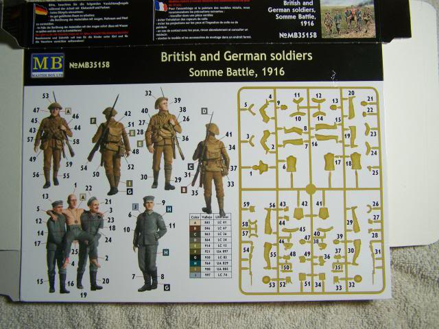 Master Box British and German Soldiers – Somme Battle 1916 in 1/35th Scale Kit # MB35158 BritishandGermanSoldiersSommeBattle1916boxrear_zps4e7c6bf3