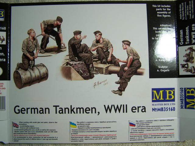 Master Box German Tankmen, WW-II era in 1/35th Scale Kit # MB35160 GermantankmenWW-IIBoxFront_zps6a6c0c5a