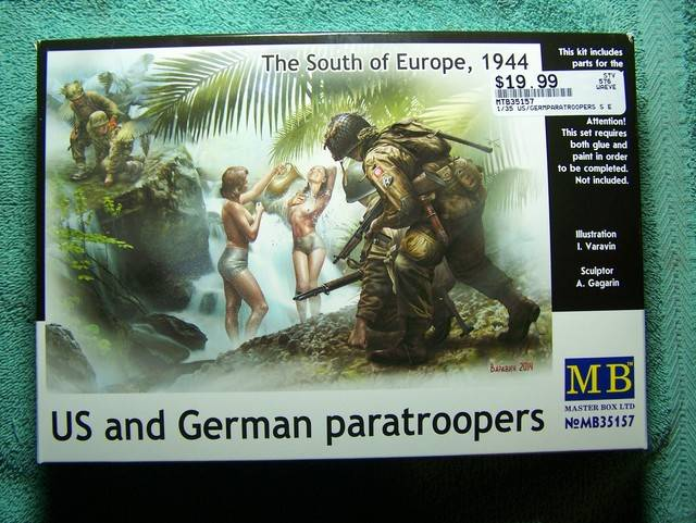 Master Box Us and German Paratroopers – The South of Europe, 1944 in 1/35th Scale Kit # MB35157 US%20and%20German%20Paratroopers%20box%20front_zpso3fytqtr
