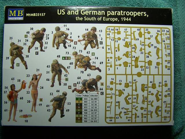 Master Box Us and German Paratroopers – The South of Europe, 1944 in 1/35th Scale Kit # MB35157 US%20and%20German%20Paratroopers%20box%20rear_zpsdeqor5ym