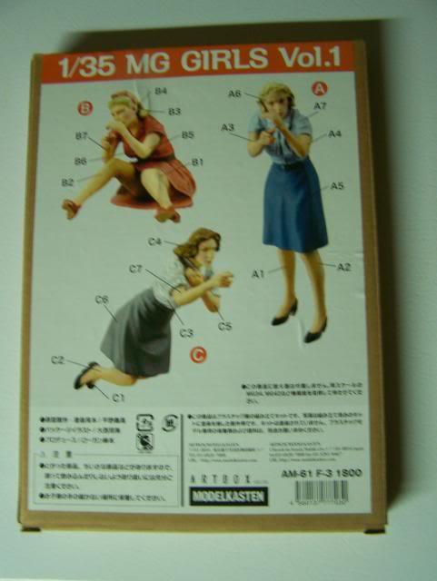 Modelkasten Machine Gun Girls figure set Vol. 1, in 1/35th Scale MGGirlsboxrear