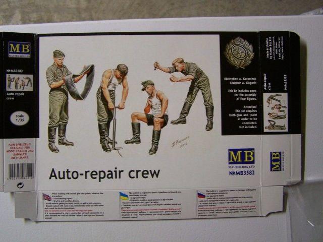 Master Box Auto-repair crew in 1/35th Scale Kit # MB35982 AutoRepaircrewBoxfront