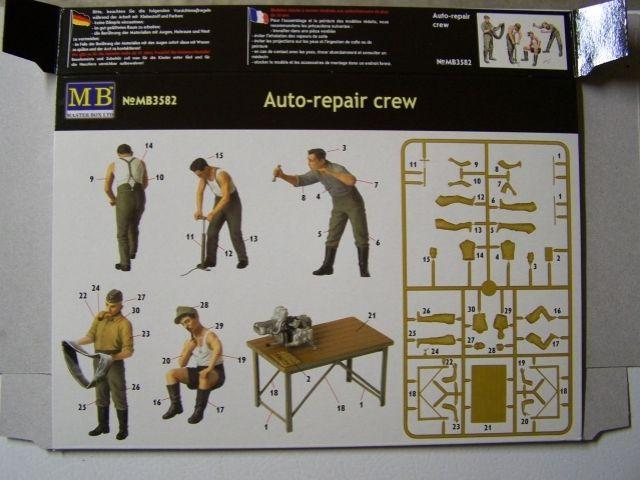 Master Box Auto-repair crew in 1/35th Scale Kit # MB35982 AutoRepaircrewBoxrear
