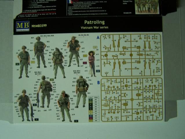 Master Box - Patroling, Vietnam War Series PatrolingVietnamboxrear