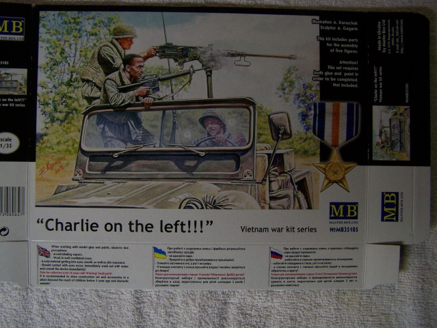 Master Box Charlie on the left – Vietnam War Series in 1/35th Scale Kit # MB35105 Charlieontheleftboxfront
