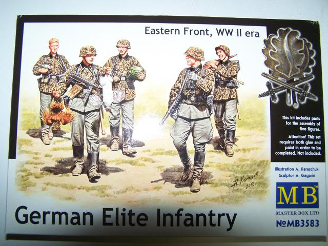 German Elite Infantry – Eastern Front WW-II era in 1/35th Scale, Kit # MB3583 GermanEliteInfantryboxfront_zpsefba3228