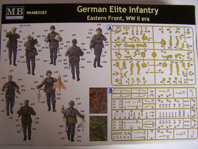 German Elite Infantry – Eastern Front WW-II era in 1/35th Scale, Kit # MB3583 GermanEliteInfantryboxrear_zps1917e561