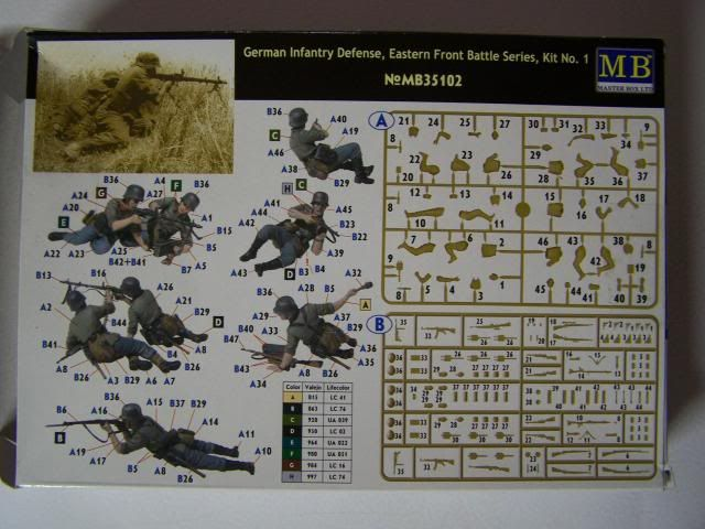 Master Box German infantry defense - Eastern Front Battle Series, Kit No. 1 GermanInfantryDefenseBoxrear_zps37e5bc06
