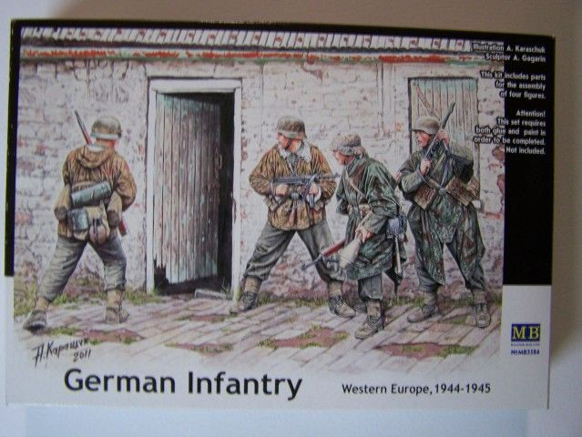 German Infantry – Western Europe 1944-1945 in 1/35th Scale, Kit # MB3584 GermanInfantry-WesternEurope1944-1945boxfront