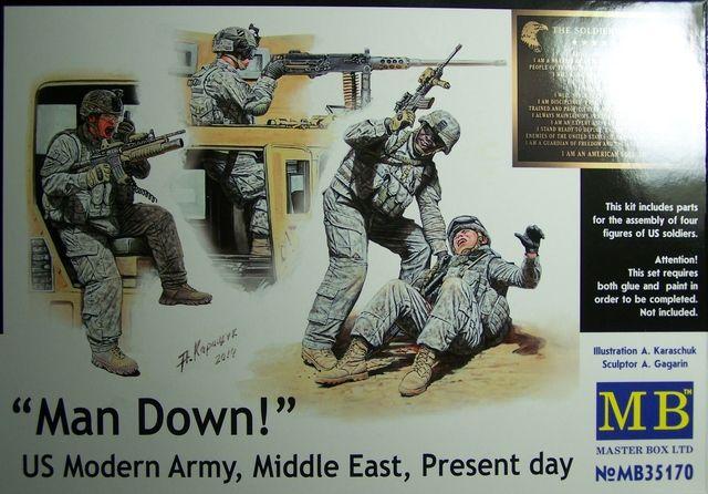 Man Down! – US Modern Army, Middle East, Present Day. 1/35th Scale, Kit # MB35170 Man%20Down%20-%20US%20Modern%20Army%20Box%20Front_zpsjhst8bnv