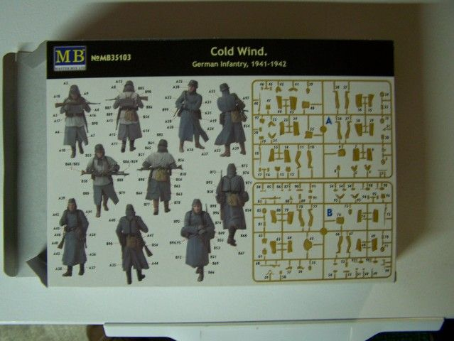 Cold Wind - German Infantry 1941-1942 in 1/35th Scale, Kit # MB35103 ColdWind-GermanInfantry1941-1942boxback