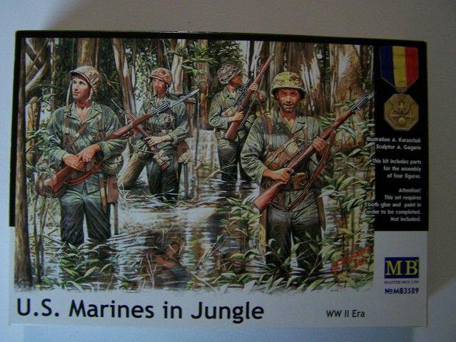 Master Box U.S. Marines in Jungle WW-II Era in 1/35th Scale Kit # MB3589 USMarineinJungleboxfront