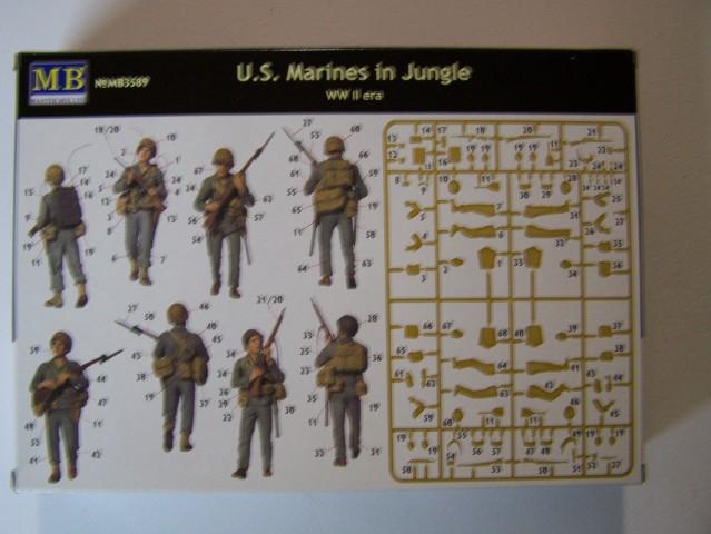 Master Box U.S. Marines in Jungle WW-II Era in 1/35th Scale Kit # MB3589 USMarineinJungleboxrear