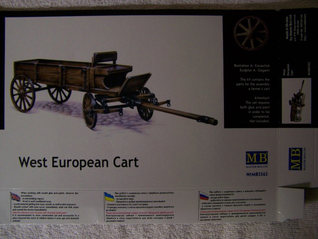 Master Box West European Cart in 1/35th Scale Kit # MB3562 WestEuropeancartboxfront