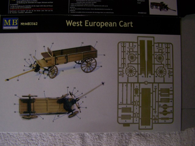 Master Box West European Cart in 1/35th Scale Kit # MB3562 WestEuropeancartboxfrontboxrear