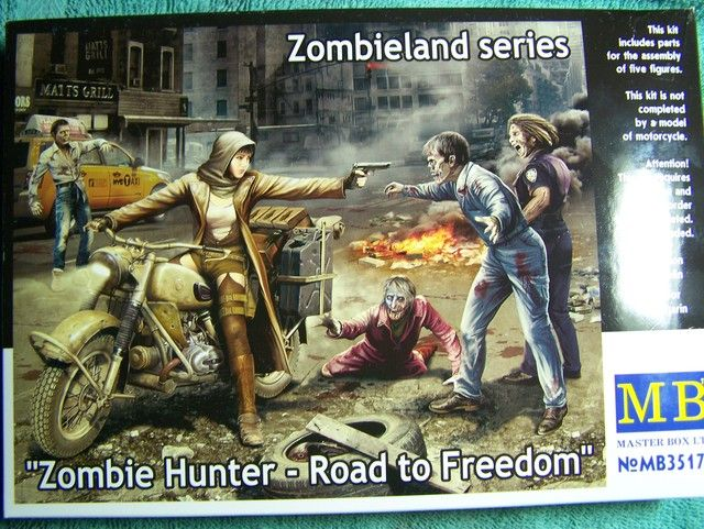 Master Box Zombie Hunter – Road to Freedom in 1/35th Scale Kit # MB35175 Zombie%20Hunter%20box%20Front_zpss0svlscy