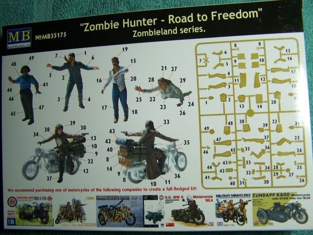 Master Box Zombie Hunter – Road to Freedom in 1/35th Scale Kit # MB35175 Zombie%20Hunter%20box%20Rear_zpsoyggdivg