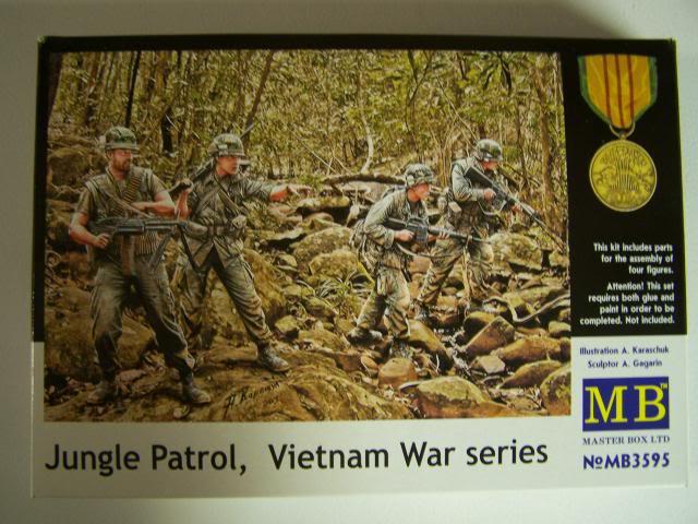Master Box Jungle Patrol – Vietnam War Series in 1/35th Scale Kit # MB3595 JunglePatrolboxfront_zps113f68d2