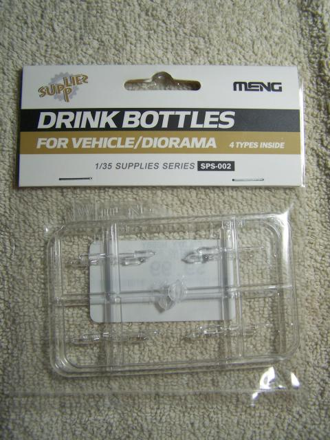 MENG – Drink Bottles for Vehicle/Diorama (Supply Series) Kit # SPS-002 in 1/35th Scale Meng%20Drink%20Bottles%20package%20front_zpsyilgnuys