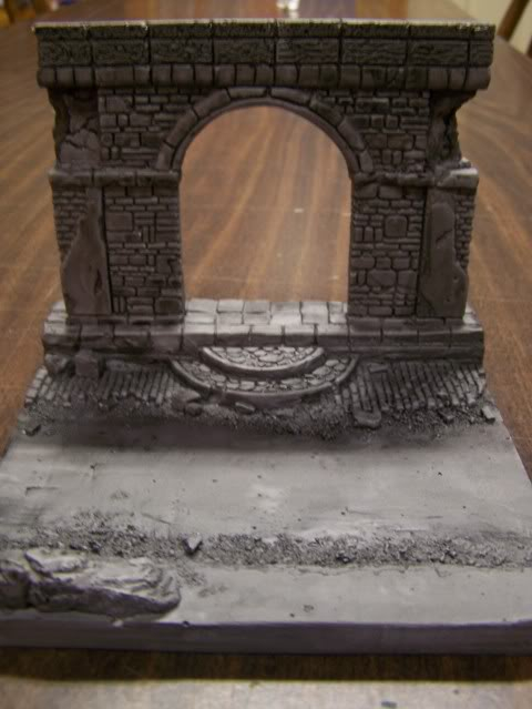 MoDio European Arch with Base Kit # BM-004  Basereallycloseupwithblackwash