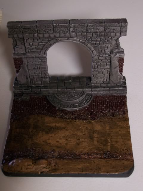 MoDio European Arch with Base Kit # BM-004  Basewithbrickanddirtfront
