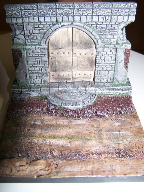 MoDio European Arch with Base Kit # BM-004  Basewithdoorweathered