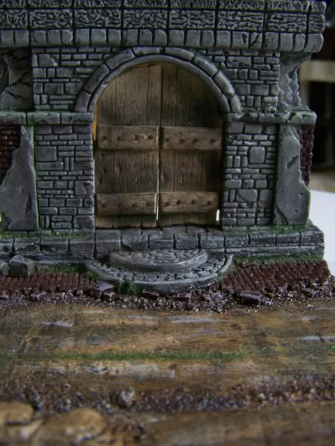 MoDio European Arch with Base Kit # BM-004  Basewithdoorweatheredfront