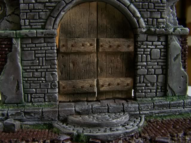 MoDio European Arch with Base Kit # BM-004  Basewithdoorweatheredfrontcloseup